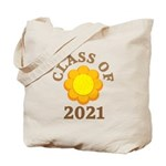 Sunflower Design Class Of 2021 Tote Bag