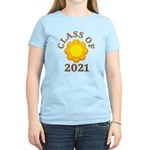 Sunflower Design Class Of 2021 Women's Light T-Shi