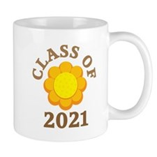 Sunflower Design Class Of 2021 Mug