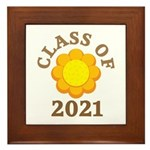 Sunflower Design Class Of 2021 Framed Tile
