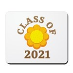 Sunflower Design Class Of 2021 Mousepad