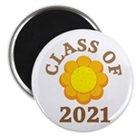 Sunflower Design Class Of 2021 Magnet