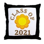 Sunflower Design Class Of 2021 Throw Pillow