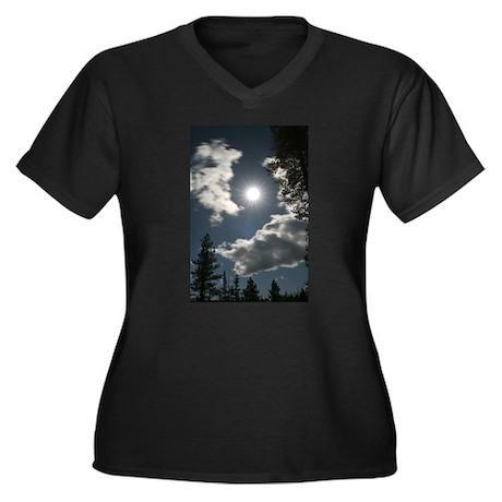 starry night Women's Plus Size V-Neck Dark T-Shirt