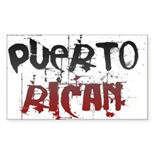 Puerto Rican Rectangle Decal