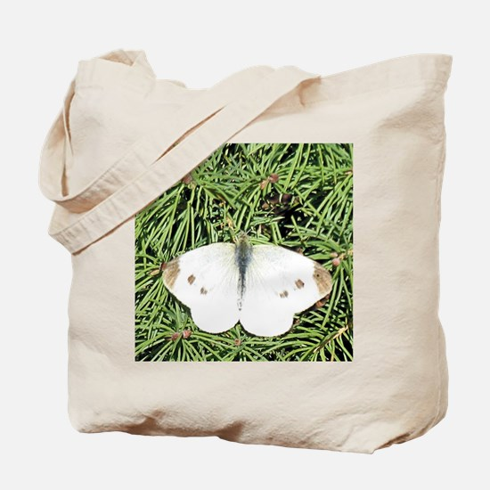 White Cabbage Butterfly ToteBag-Hopeful Hands Back