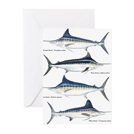 4 Marlin Greeting Cards (Pk of 20)