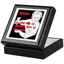 anti-abortion Keepsake Box