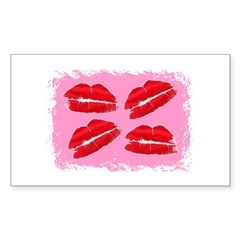 MANY LIPS Rectangle Decal