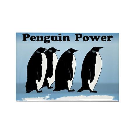 Penguin Power Rectangle Magnet