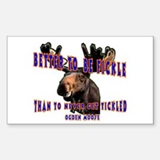 Ogden Moose Quote Rectangle Decal