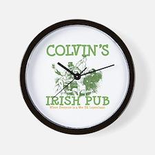 Colvin's Irish Pub Personalized Wall Clock