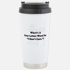 Four Letter Word Thermos Mug