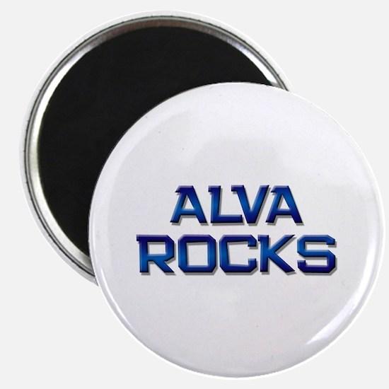 alva rocks Magnet