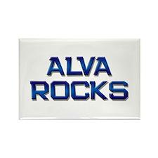 alva rocks Rectangle Magnet