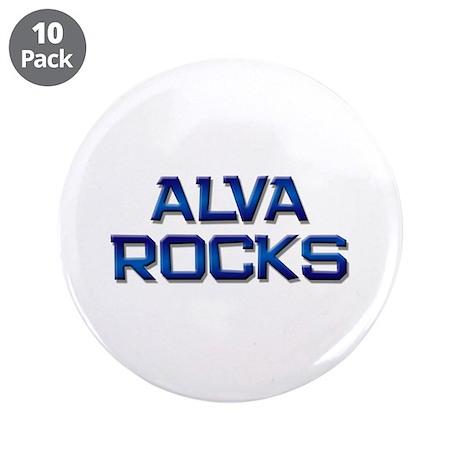 "alva rocks 3.5"" Button (10 pack)"