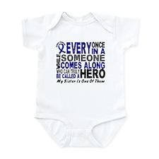 HERO Comes Along 1 Sister CC Infant Bodysuit