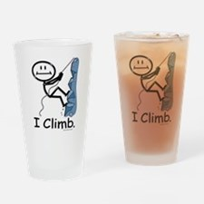 Rock Climbing Stick Figure Drinking Glass