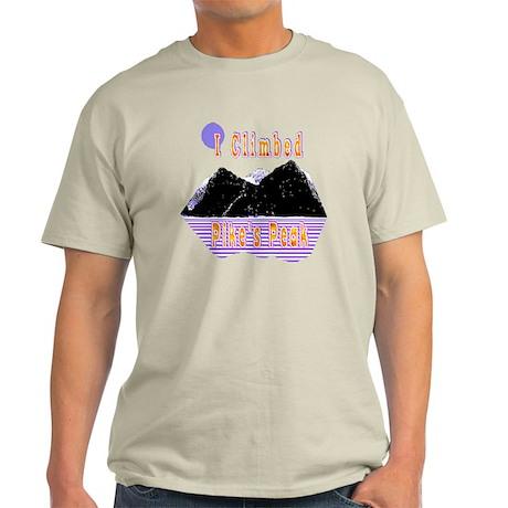 I Climbed Pike's Peak Light T-Shirt
