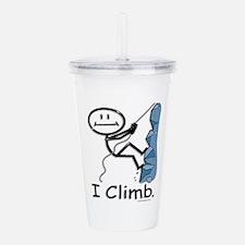 Rock Climbing Stick Fi Acrylic Double-wall Tumbler