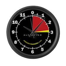 Black Altimeter clock - Large