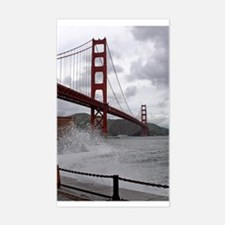 foggy golden gate Rectangle Decal