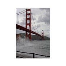 foggy golden gate Rectangle Magnet