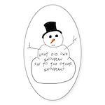 Snowman Oval Sticker (10 pk)