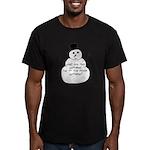 Snowman Men's Fitted T-Shirt (dark)