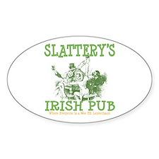 Slattery's Irish Pub Personalized Oval Decal