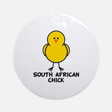 South African Chick Ornament (Round)