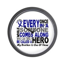 HERO Comes Along 1 Brother CC Wall Clock