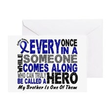 HERO Comes Along 1 Brother CC Greeting Card