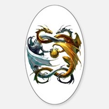Battle Dragons Oval Decal