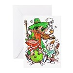 St Patty Party Crew Greeting Cards