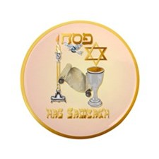 """Happy Passover 3.5"""" Button (100 pack)"""