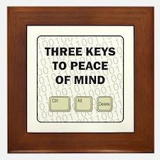 Peace Of Mind Framed Tile