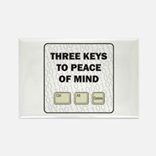 Peace Of Mind Rectangle Magnet