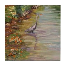 Blue Heron Tile Coaster