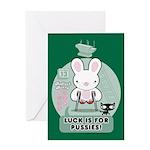 Bad Luck Bunny Greeting Card