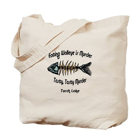 Eating Walleye is Murder Tote Bag