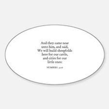 NUMBERS 32:16 Oval Decal