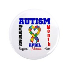 "Autism Awareness Month 3.5"" Button (100 pack)"