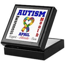 Autism Awareness Month Keepsake Box