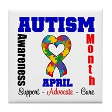 Autism Awareness Month Tile Coaster