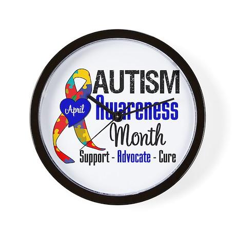 Autism Awareness Month Wall Clock