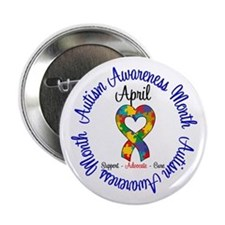"Autism Awareness Ribbon 2.25"" Button (10 pack)"