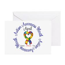 Autism Awareness Ribbon Greeting Cards (Pk of 20)