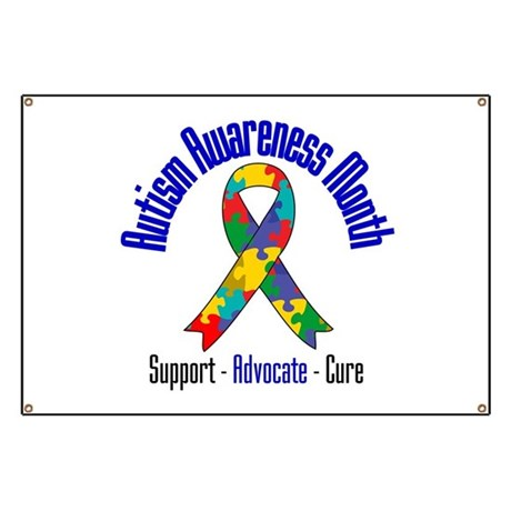 Autism Month Ribbon Banner