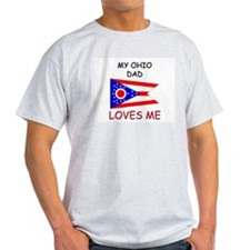 My OHIO DAD Loves Me T-Shirt